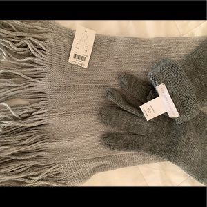 New York & company Scarf & gloves
